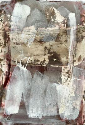 Wellefront, Pigment, Wachs und Acryl auf Papier, 2016