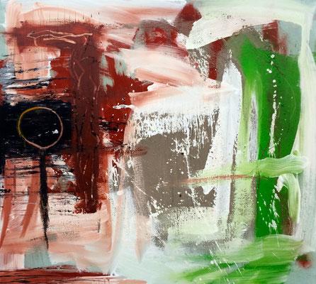 Schweinfurter Grün, Acryl und Pigment auf Leinwand, 100x90 cm, 2015