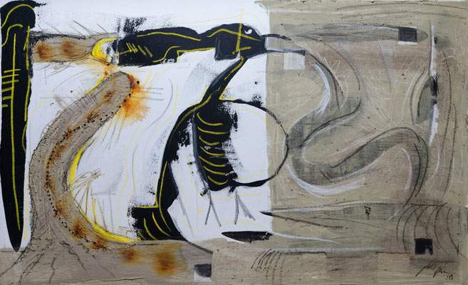 Letzte Bestellungen, Acryl und Kreide auf Leinwand, 180x110 cm, 2013