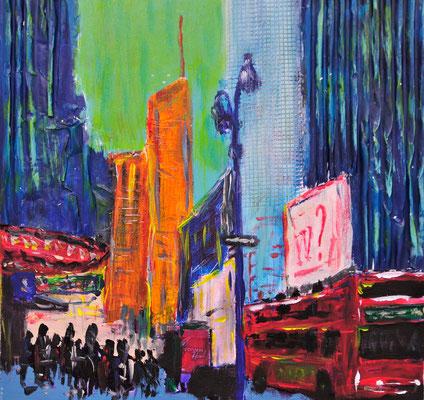 NYC-Studie1,  Acryl auf Leinwand, 30x30 cm, 2011