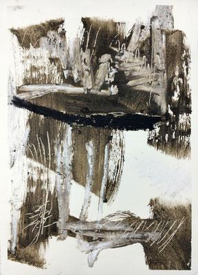 Kaschiert, Pigment und Acryl auf Papier, 2016