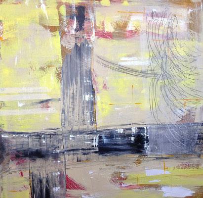 Becquerel, Acryl auf Leinwand, 120x120 cm, 2013