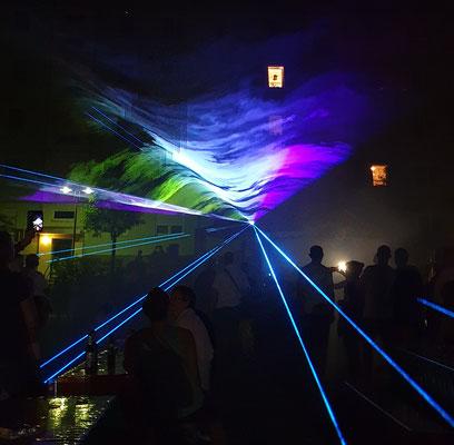 Laser-Show als Highlight zum Schluss