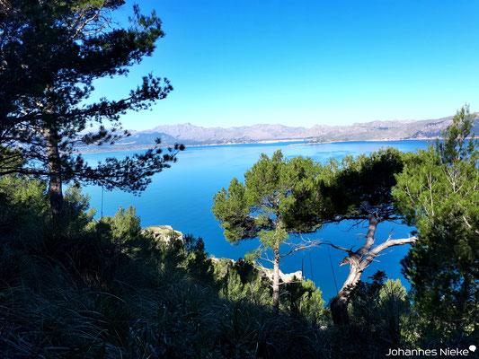 Halbinsel La Victoria, Blick in die Bucht von Pollença
