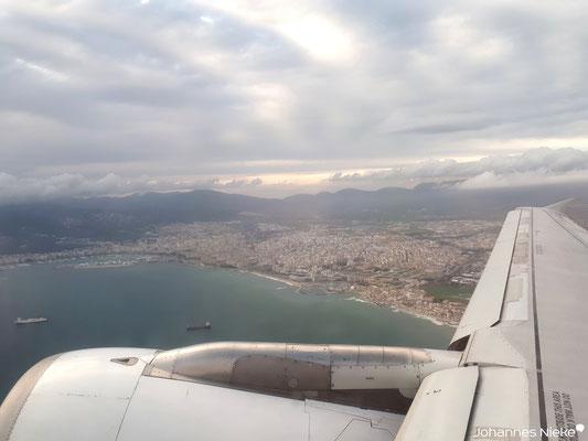 Rückflug, Blick auf Palma de Mallorca