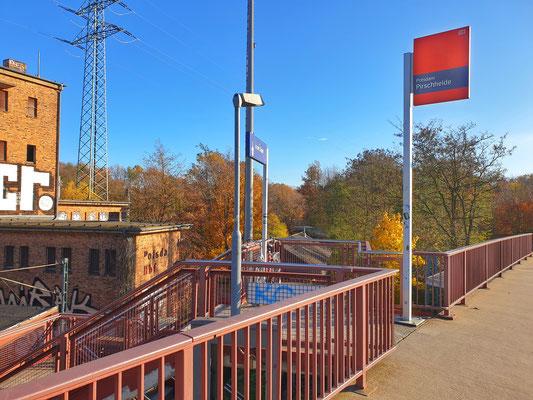 Südlicher Zugang zum einzigen noch aktiven Gleis
