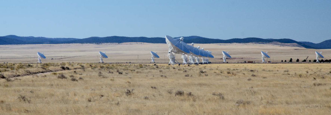 Das VLA (Veriy Large Array) des Radioastronomie Observatoriums von New Mexico