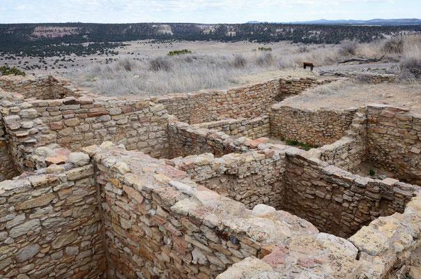 Ganz oben ein Pueblo