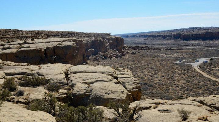 Aber dann tolle Blicke auf die Pueblos