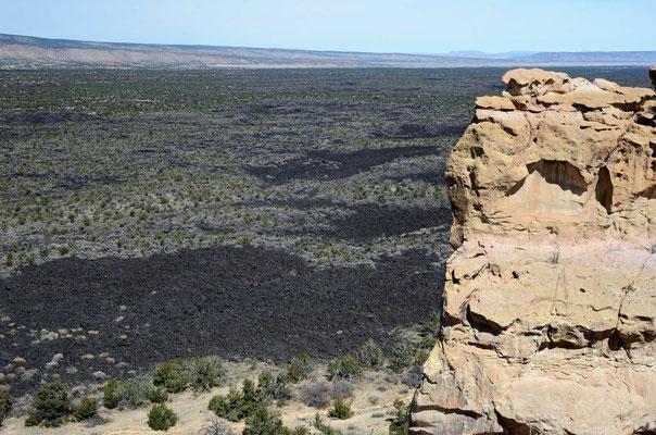 El Malpaise - das Nebeneinander von Lava und rotem Sandstein ist schon was besonderes!