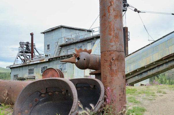 Eine alte Dredge, die bis 1969(?) in Betrieb war