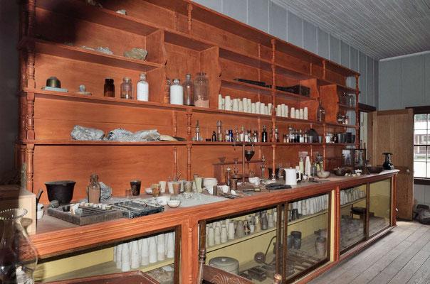 Barkerville, Labor zum Gold testen