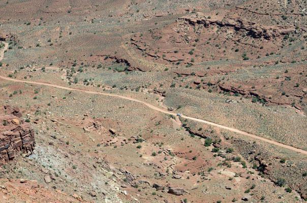 NUn gehts den Shafer Trail runter