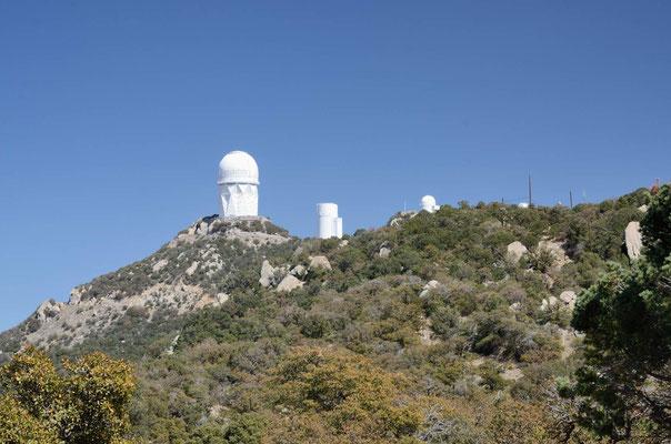Kitt Peak Observatorien 2300m hoch oben - saukalt isses oben