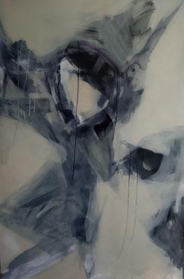 VERKAUFT Zelda; Leinwand, Mischtechnik mit Acryl, Ölkreide und Beize. Format 100cm x 150cm   2008
