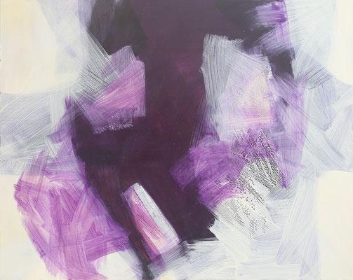 Something purple; Leinwand, Mischtechnik mit Acryl, Paraffin und Ölkreide. Format 125cm x 100cm    2008
