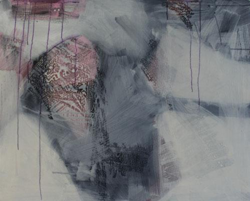 Leinwand, Mischtechnik mit Acryl, Ölkreide, Paraffin und Tusche. Format 100cm x 80cm     2007