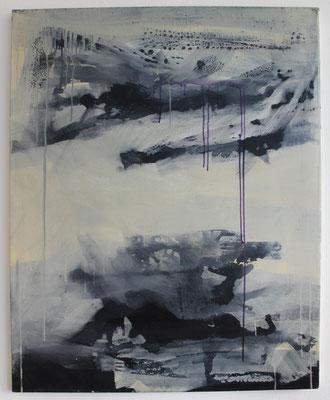 Leinwand, Mischtechnik mit Acryl, Schellack, Ölkreide und Beize. Format 80cm x 100 cm  2007