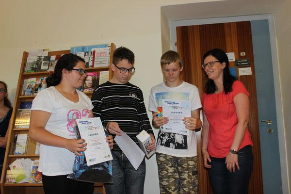 Die Sieger vom Raiffeisen Zeichenwettbewerb