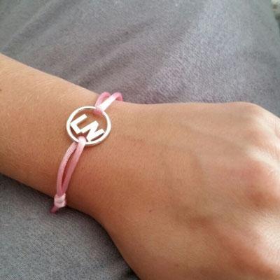 Initialen armband zilver € 129