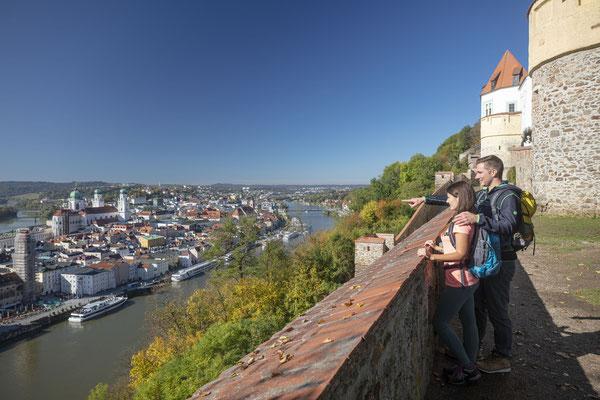 Atemberaubender Ausblick über Passau von der Veste Oberhaus, © Tourismusverband Ostbayern e.V., Fotograf Stefan Gruber