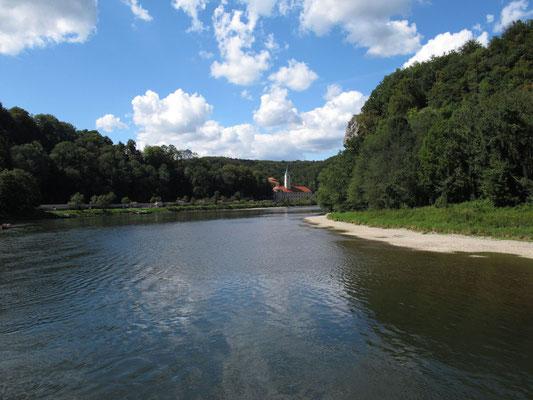 Donaublick auf das Kloster Weltenburg, Foto: Michael Körner