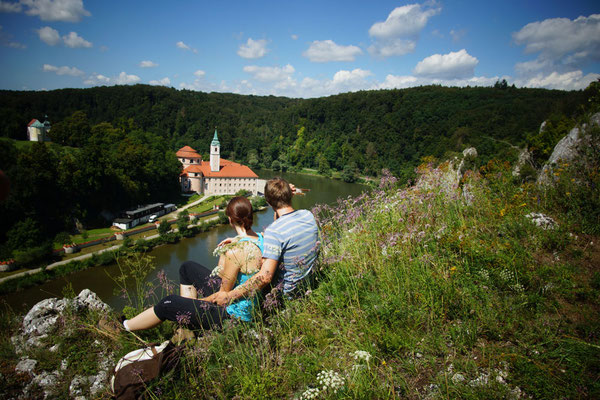 Blick auf das Kloster Weltenburg, Foto: Tourismusverband im LK Kelheim e.V.