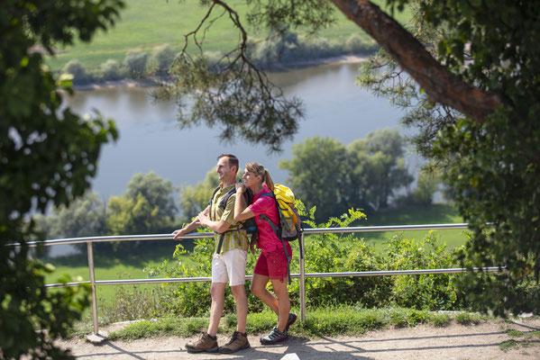 Auf dem Donau-Panoramaweg unterwegs  © Tourismusverband Ostbayern e.V., Fotograf Stefan Gruber