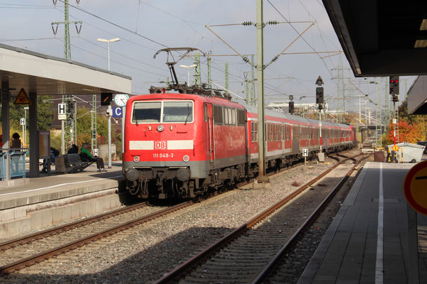28.11.2016 Nachschuss von RE 19036 in Richtung Stuttgart, in Böblingen