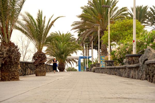 Kaum jemand bewegt sich freiwillig auf der Promenade