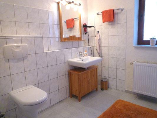 """Badezimmer """"Afrika"""" mit Waschtisch und Toilette"""