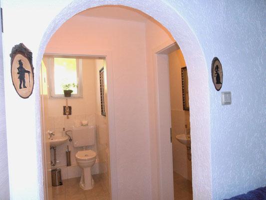 Eingang zu den Toiletten