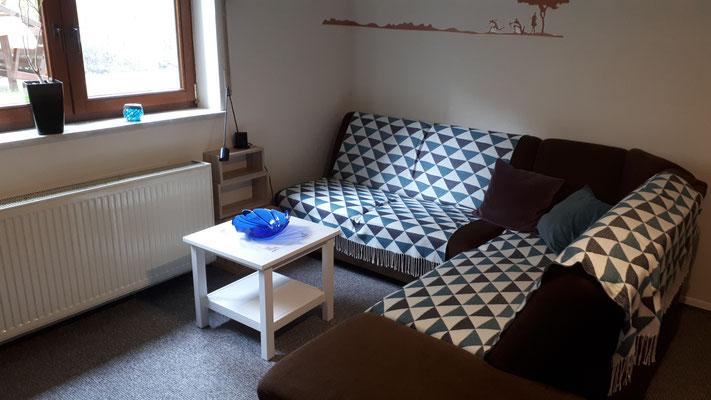 Wohnlandschaft im Wohnzimmer (ausziehbar)