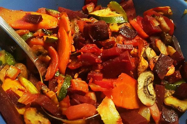 Gemüse aus den Ofen