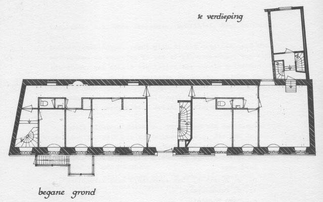 Plattegrond Latijnse School - van: Bureau voor Architectuur en stedenbouw Pouderoyen Cremers en Velthuijzen