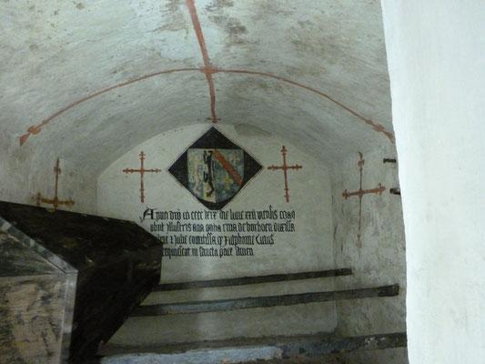 Stevenskerk - grafkelder met grafkist van Catharina van Bourbon