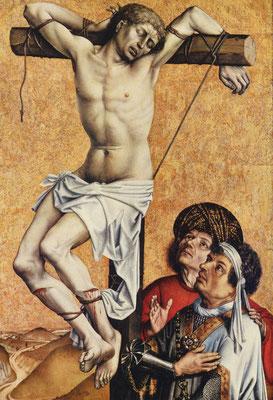 Rechterluik van 'De Kruisafname' (ca. 1420-1440) - Robert Campin. Publiek domein via Wikimedia Commons. Städel Museum - Frankfurt am Main.