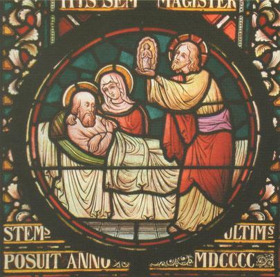 De dood van de Heilige Jozef - Uit: 'Het Geheime Licht' van Gerda Tonnaer - Volgens mij een afbeelding van de familie P. Cuypers.