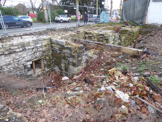 Doornik - een kleine opgraving in de buurt van de Boulevard des Combattants