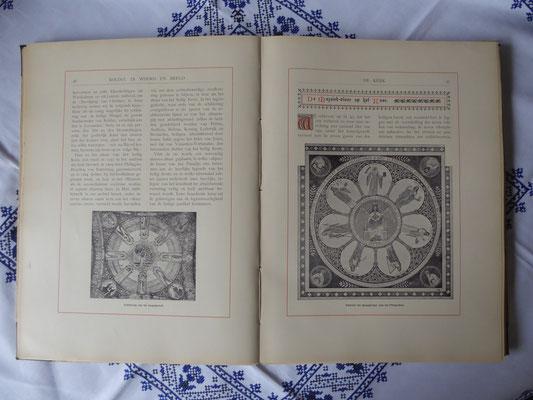 'Rolduc in Woord en Beeld' pagina 56 en 57 - Matthias Goebbels: gewelfschildering en ontwerp van de mozaïekvloer.