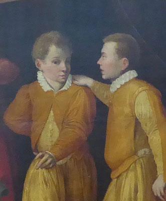 De jongste zonen - Uitsnede van foto van 'Het Raadsel (van Nijmegen)' - Museum Het Valkhof Nijmegen