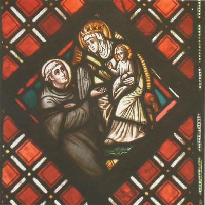 De Heilige Maagd verschijnt aan Sint-Bernardus van Clairvaux. - Uit: 'Het Geheime Licht' van Gerda Tonnaer - Volgens mij de beeltenis van Matthias Goebbels.