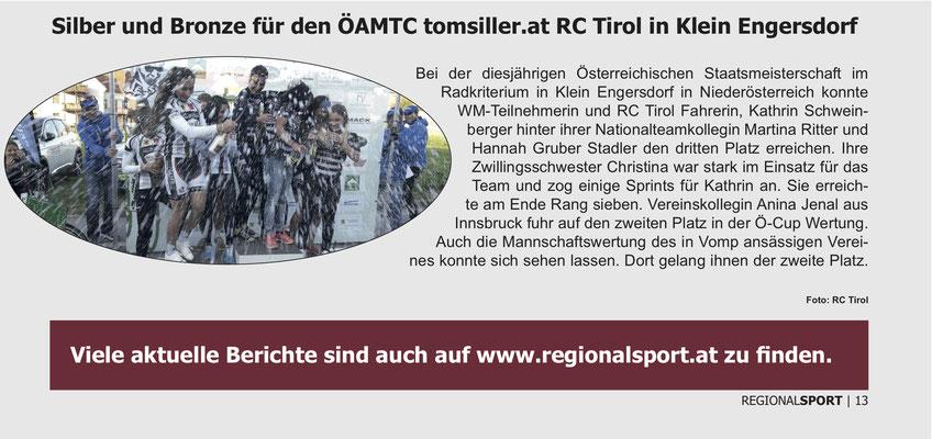 Regionalsport Sonderausgabe Alpinmesse Innsbruck November 2017