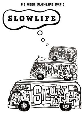 """アコースティックユニット"""" SLOWLIFE """" ロゴ"""