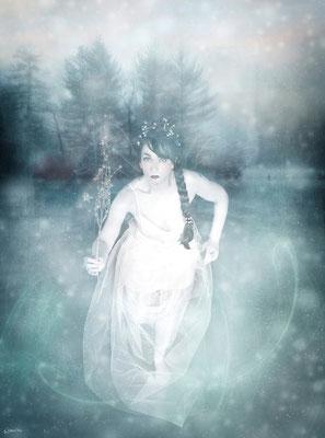 Eisfee - Foto Paintpictures -  Idee, Kostüm, Hair/Make Up und Bearbeitung Susanne Jeroma - 2011