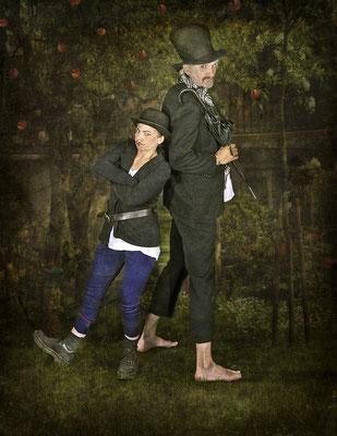 Ab heute sind wir Mitglieder der Blohm- und Donner-Karlsson-Bande! - Foto Paintpictures - Co-Model Dieter Schumann - Idee und Bearbeitung Susanne Jeroma
