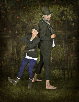 Ab heute sind wir Mitglieder der Blohm- und Donner-Karlsson-Bande! - Foto Paintpictures - Co-Model Dieter Schumann - Idee und Bearbeitung Susanne Jeroma  - 2009