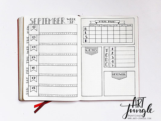 bullet journal weekly layout idea ideen september
