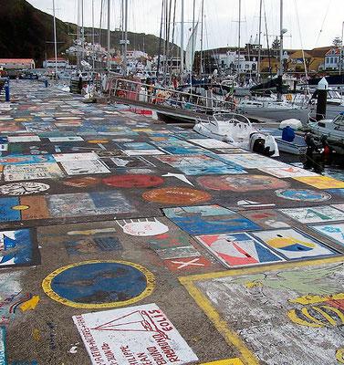 Yachthafen Horta Gemälde