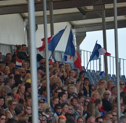 Les supporters français...